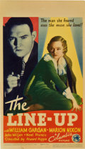 "Movie Posters:Crime, The Line-Up (Columbia, 1934). Midget Window Card (8"" X 14"").Crime.. ..."