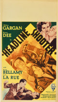 "Movie Posters:Adventure, Headline Shooter (RKO, 1933). Midget Window Card (8"" X 14"")...."