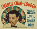 "Movie Posters:Mystery, Charlie Chan in London (Fox, 1934). Title Lobby Card and LobbyCards (3) (11"" X 14"").... (Total: 4 Items)"
