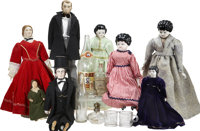 Abraham Lincoln: Advertising, Souvenir Glassware, and Dolls, Fifteen Pieces