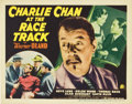 "Movie Posters:Mystery, Charlie Chan at the Race Track (20th Century Fox, 1936). TitleLobby Card and Lobby Cards (3). (11"" X 14"").... (Total: 4 Items)"