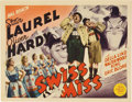 "Movie Posters:Comedy, Swiss Miss (MGM, 1938). Title Lobby Card (11"" X 14"")...."