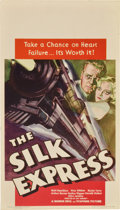 "Movie Posters:Mystery, The Silk Express (Warner Brothers, 1933). Midget Window Card (8"" X14"")...."