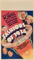 "Movie Posters:Comedy, Fashions of 1934 (Warner Brothers, 1934). Midget Window Card (8"" X14"")...."
