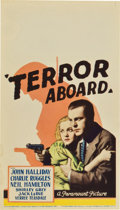 "Movie Posters:Mystery, Terror Aboard (Paramount, 1933). Midget Window Card (8"" X 14"")...."
