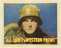 "Movie Posters:Academy Award Winner, All Quiet on the Western Front (Universal, 1930). Half Sheet (22"" X28"")...."