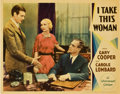 "Movie Posters:Romance, I Take This Woman (Paramount, 1931). Lobby Cards (2) (11"" X14"").... (Total: 2 Items)"