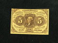 Fractional Currency:First Issue, Fr. 1230 5c First Issue Choice About New. A corner fold is found onthis note....