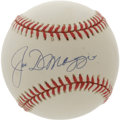 Autographs:Baseballs, Joe DiMaggio Single Signed Baseball. Clean white baseball bears the popular Joe DiMaggio signature in 10/10 blue ink. Exce...