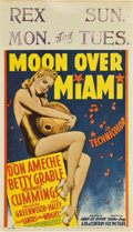 "Movie Posters:Musical, Moon Over Miami (20th Century Fox, 1941). Midget Window Card (8"" X 14"")...."