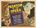 "Movie Posters:Horror, Phantom of the Opera (Universal, 1943). Title Lobby Card (11"" X14"")...."