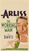 "Movie Posters:Romance, The Working Man (Warner Brothers, 1933). Midget Window Card (8"" X14"")...."