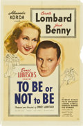 """Movie Posters:Comedy, To Be or Not to Be (United Artists, 1942). One Sheet (27"""" X41"""")...."""