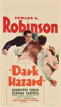 "Movie Posters:Drama, Dark Hazard (First National, 1934). Midget Window Card (8"" X14"")...."