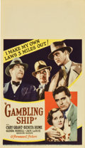 "Movie Posters:Drama, Gambling Ship (Paramount, 1933). Midget Window Card (8"" X 14"")...."