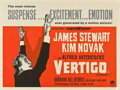 "Movie Posters:Hitchcock, Vertigo (Paramount, 1958). British Quad (30"" X 40"")...."