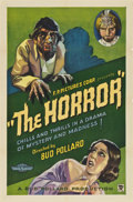 """Movie Posters:Horror, The Horror (Bud Pollard Productions, 1932). One Sheet (27"""" X 41"""")...."""