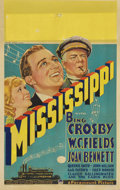 """Movie Posters:Comedy, Mississippi (Paramount, 1935). Window Card (14"""" X 22"""")...."""