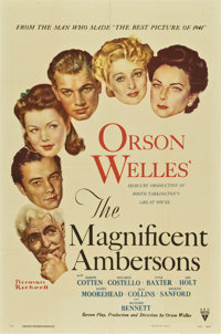 "The Magnificent Ambersons (RKO, 1942). One Sheet (27"" X 41"")"