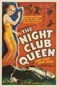 "Movie Posters:Mystery, The Night Club Queen (Olympic, 1934). One Sheet (27"" X 41"")...."