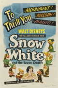 "Movie Posters:Animated, Snow White and the Seven Dwarfs (RKO, R-1943). One Sheet (27"" X 41"")...."