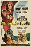 "Movie Posters:Hitchcock, Shadow of a Doubt (Universal, 1943). One Sheet (27"" X 41"") Style D ...."