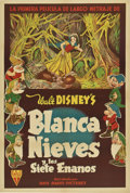 "Movie Posters:Animated, Snow White and the Seven Dwarfs (RKO, 1937). Argentinean Poster(29.25"" X 43.5"").. ..."