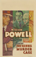 "Movie Posters:Mystery, The Kennel Murder Case (Warner Brothers, 1933). Window Card (14"" X22"")...."