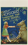 "Movie Posters:Drama, Through the Back Door (United Artists, 1921). Window Card (14"" X22"")...."