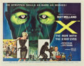 "Movie Posters:Science Fiction, X-The Man With the X-Ray Eyes (American International, 1963). HalfSheet (22"" X 28"")...."