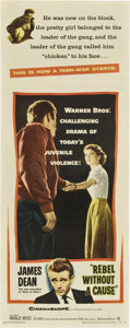 "Movie Posters:Drama, Rebel Without a Cause (Warner Brothers, 1955). Insert (14"" X36"")...."