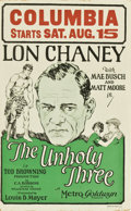 "Movie Posters:Crime, The Unholy Three (MGM, 1925). Window Card (14"" X 22"")...."