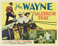 "Movie Posters:Western, Sagebrush Trail (Monogram, 1933). Half Sheet (22"" X 28"")...."