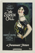 "Movie Posters:Drama, The Siren Call (Paramount, 1922). One Sheet (27"" X 41"")...."