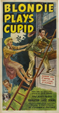 "Movie Posters:Comedy, Blondie Plays Cupid (Columbia, 1940). Three Sheet (41"" X 81"")...."