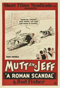 "Movie Posters:Animated, Mutt and Jeff in ""A Roman Scandal"" (Short Films Syndicate, 1926). One Sheet (27"" X 41"")...."