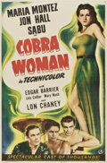 "Movie Posters:Adventure, Cobra Woman (Universal, 1944). One Sheet (26"" X 39.5"")...."
