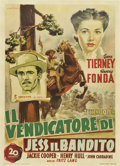 "Movie Posters:Western, The Return of Frank James (20th Century Fox, 1949). Post-War Release Italian 2 - Foglio (39"" X 55""). Western.. ..."