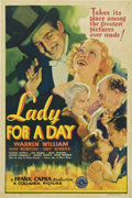 "Movie Posters:Comedy, Lady for a Day (Columbia, 1933). One Sheet (27"" X 41"")...."