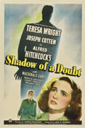 "Movie Posters:Hitchcock, Shadow of a Doubt (Universal, 1943). One Sheet (27"" X 41"") StyleC...."