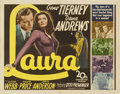 "Movie Posters:Film Noir, Laura (20th Century Fox, 1944). Half Sheet (22"" X 28"")...."