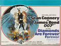 "Movie Posters:James Bond, Diamonds Are Forever (United Artists, 1971). British Quad (30"" X40"")...."