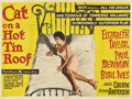 "Movie Posters:Drama, Cat on a Hot Tin Roof (MGM, 1958). British Quad (30"" X 40"")...."