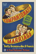 "Movie Posters:Drama, Companionate Marriage (First National, 1928). One Sheet (27"" X 41"") Style A...."