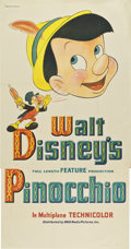 "Movie Posters:Animated, Pinocchio (RKO, 1940). Three Sheet (41"" X 81"") Style B...."