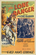 "Movie Posters:Serial, The Lone Ranger (Republic, 1938). One Sheet (27"" X 41"") Chapter Six-- ""Red Man's Courage.""..."