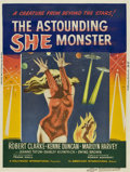 "Movie Posters:Science Fiction, The Astounding She Monster (American International, 1958). Poster(30"" X 40"")...."
