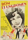 "Movie Posters:Drama, Our Modern Maidens (MGM, 1929). Swedish One Sheet (27.5"" X39.5"")...."