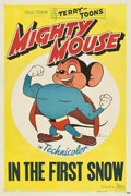 "Movie Posters:Animated, Mighty Mouse ""In the First Snow"" (20th Century Fox, 1943). StockOne Sheet (27"" X 41"")...."