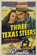 "Movie Posters:Western, Three Texas Steers (Republic, 1939). One Sheet (27"" X 41"")...."